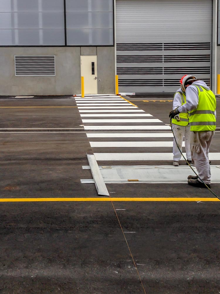 Apex Line Marking Boys Zebra Crossing_