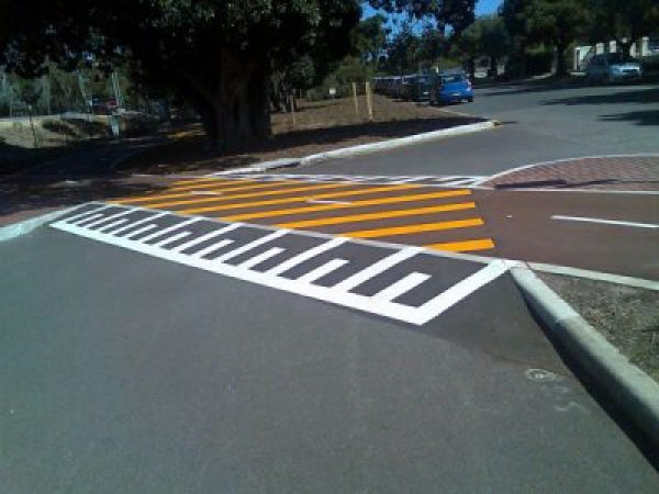 A car park line marking job in Sydney