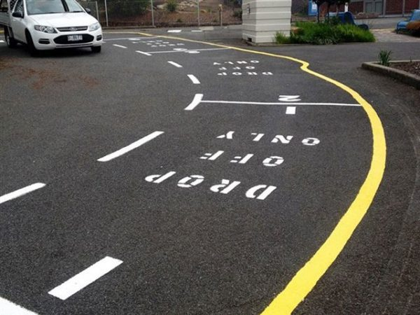 Car park Line marking project in Eastern Suburbs