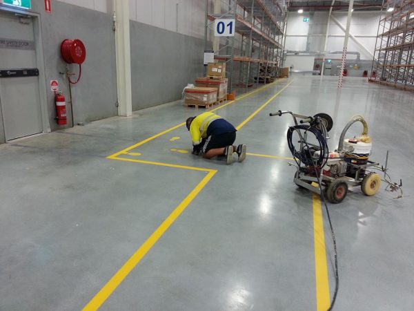 Commercial line marking project in sydney