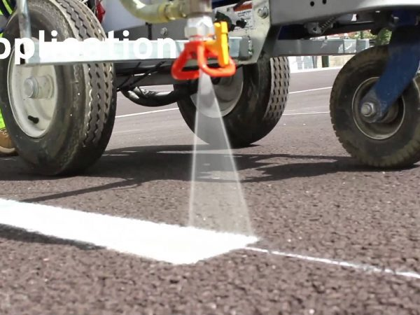 Line Marking application in action at a car park fit out