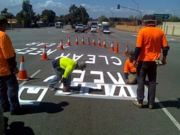 Line marking job in the Sutherland Shire