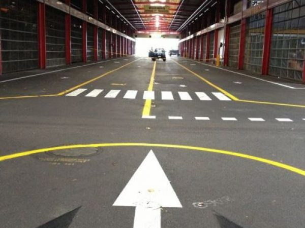 Car park line marking job in South Sydney