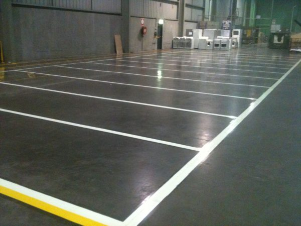 Factory safety line marking project - commercial line marking